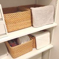 無印のかごを使った収納アイデア特集!サイズが選べて家中の小物整理に便利!