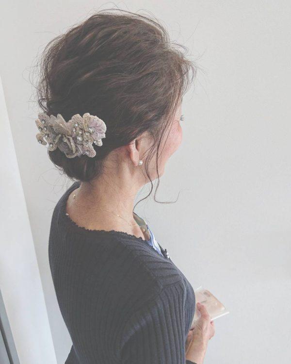 留袖に似合う50代女性の髪型《ボブ》3