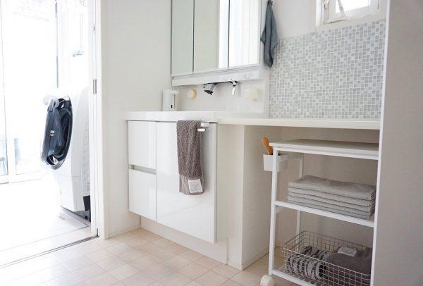 洗面・脱衣所のすっきり収納アイデア4