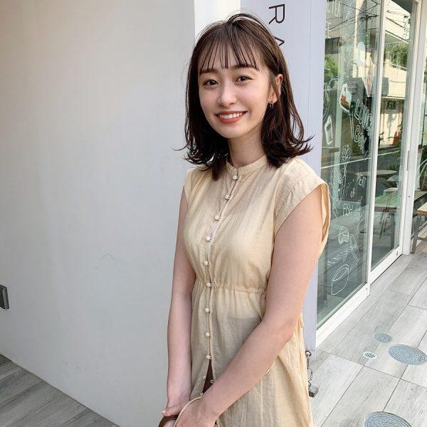 40代くせ毛×ミディアム髪型【前髪あり】5