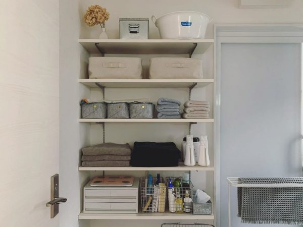 洗面・脱衣所のすっきり収納アイデア6
