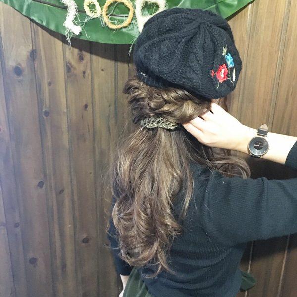 ベレー帽に似合うヘアアレンジ【ロング】6