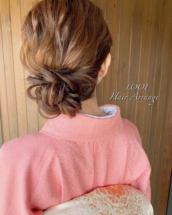 留袖に似合う50代女性の髪型《ミディアム》4