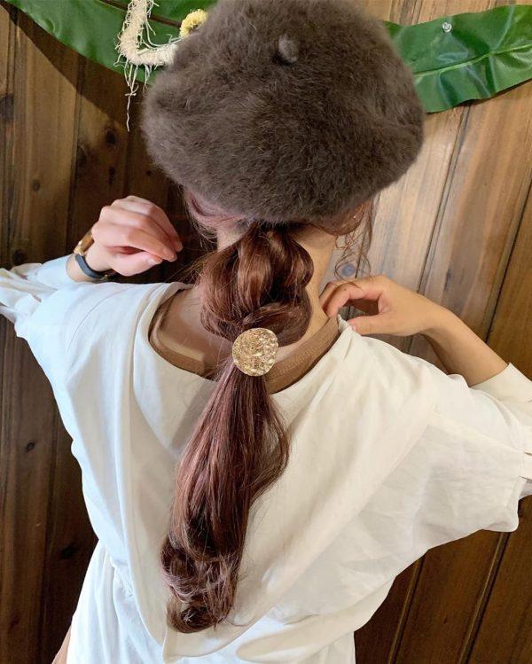 ベレー帽に似合うヘアアレンジ【ロング】3