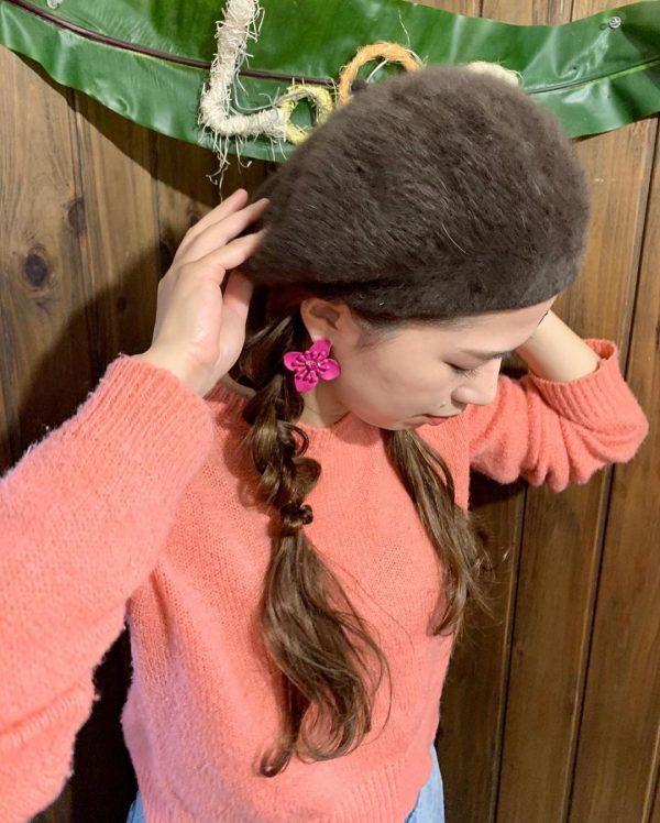 ベレー帽に似合うヘアアレンジ【ロング】