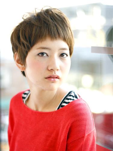 短め前髪×ショート【ストレート】
