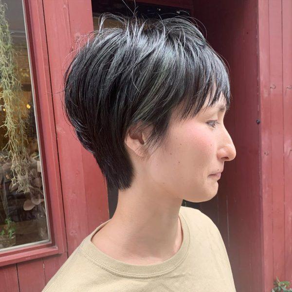 短め前髪×ショート【ストレート】4