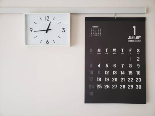 100均 カレンダー 手帳