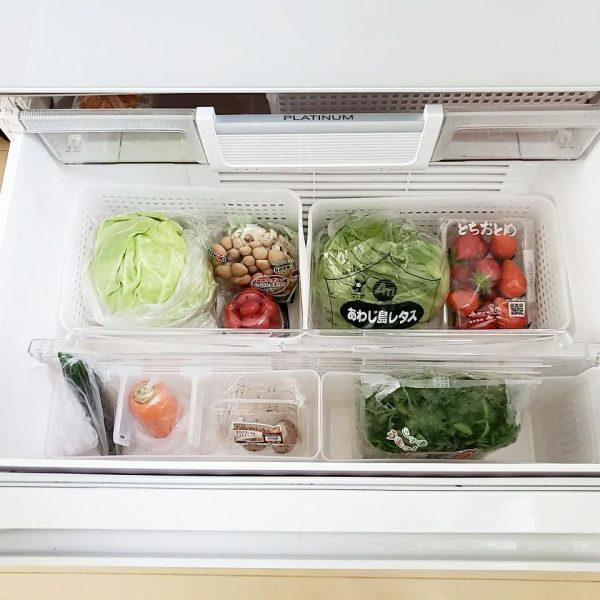 野菜室の整理