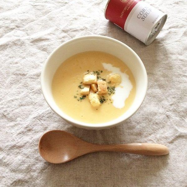 人気のコーンスープを1週間の献立に