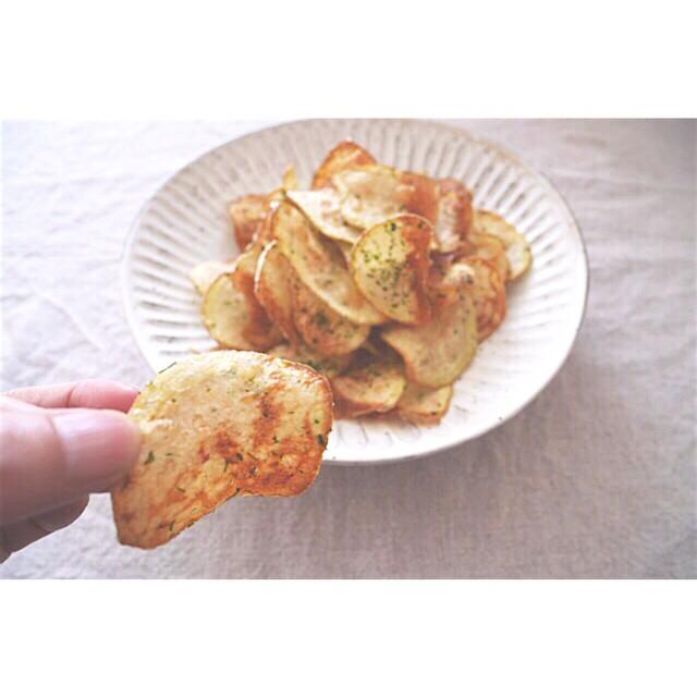 手作りのり塩ポテトチップス
