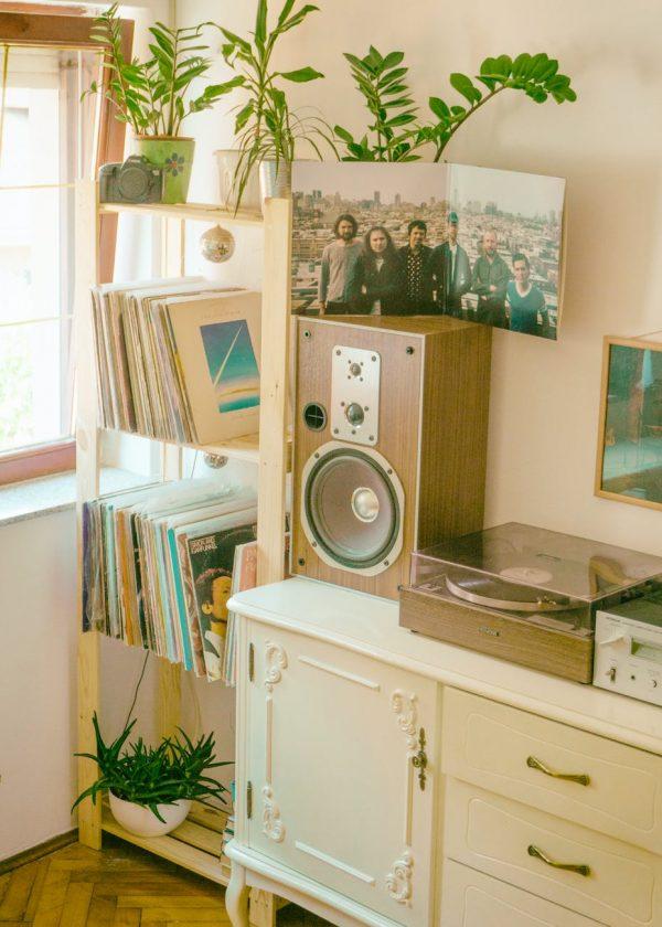 レコードを飾るおしゃれなアイデア【棚】7