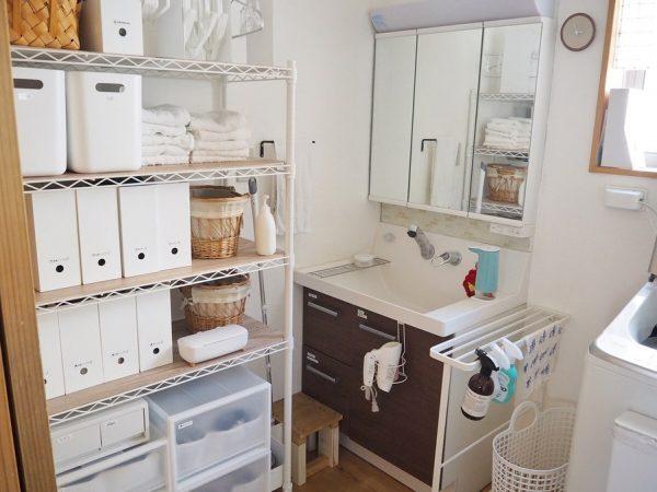 洗面・脱衣所のすっきり収納アイデア8