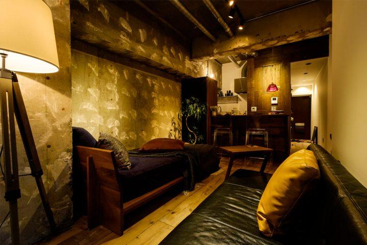 隠れ家的なムードがある10.7畳のワンルーム