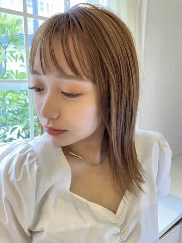 短め前髪×ミディアム11