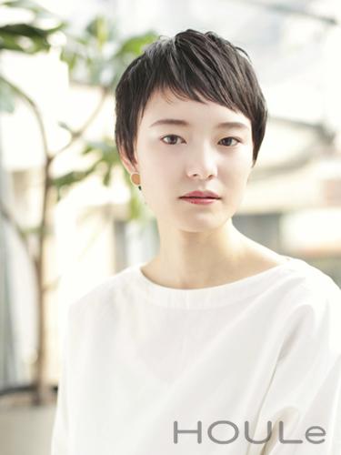 短め前髪×ショート【黒髪・暗髪】4