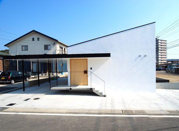 片流れ屋根のデザインがおしゃれな平屋住宅