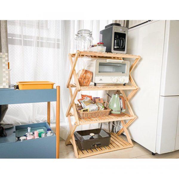 充実したキッチン家電置き場