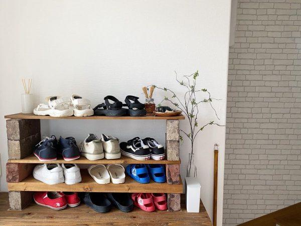 DIYで靴の収納力をUP