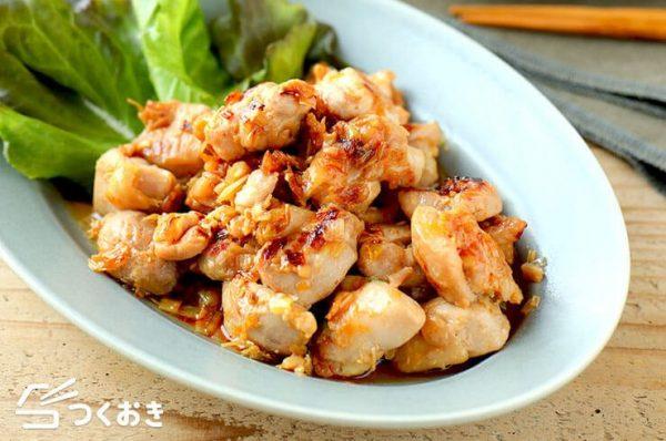 鶏肉のラー油しょうゆ炒め