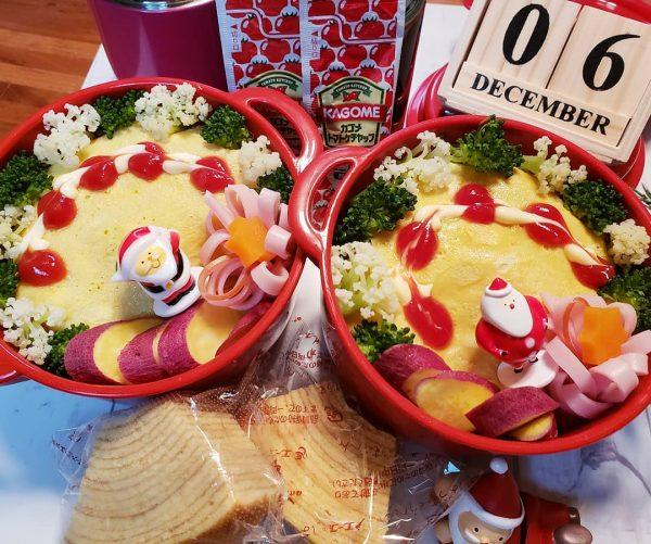 オムライスクリスマス弁当