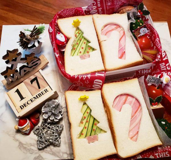 クリスマスサンド弁当