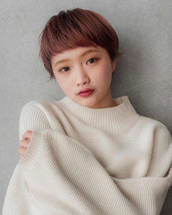 短め前髪×ショート【ストレート】5