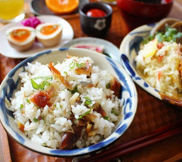 鯖のみりん焼きと大葉の混ぜご飯