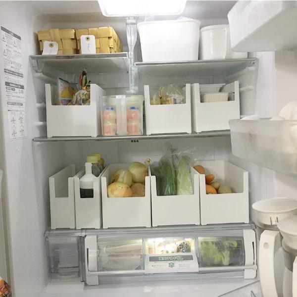 清潔感溢れる冷蔵庫に