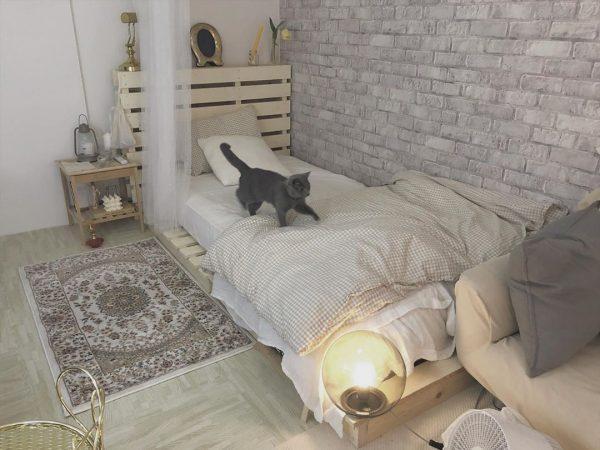 お部屋に馴染む白のオリエンタルラグ