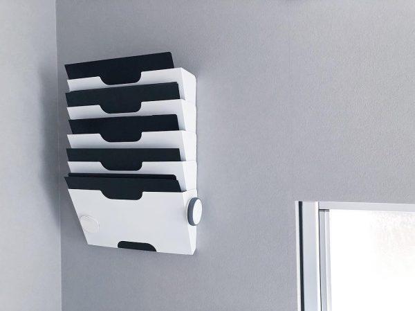 IKEA新聞ラックで書類の壁面収納