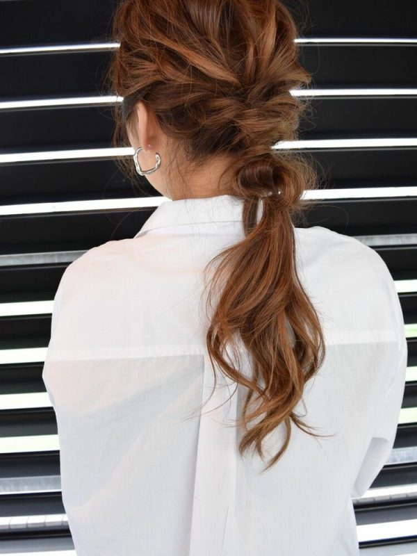 40代女性×編み込みアレンジローポニー