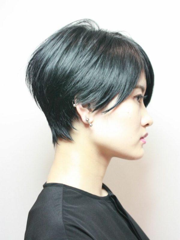 黒に近いおすすめの髪色《ブルー系》5