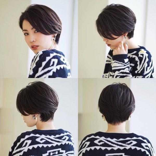 エレガントな雰囲気の長め前髪×ベリーショート