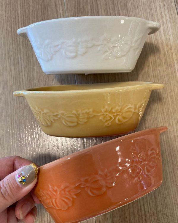 オータムカラーのグラタン皿