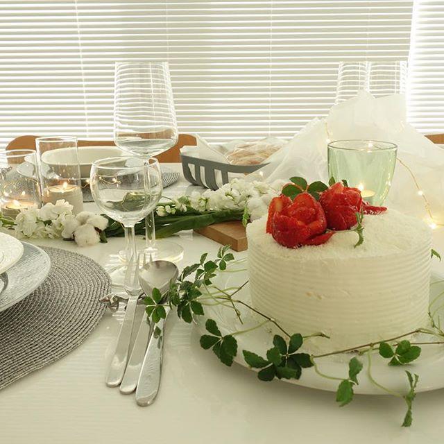 誕生日や記念日にケーキを飾る簡単アイデア