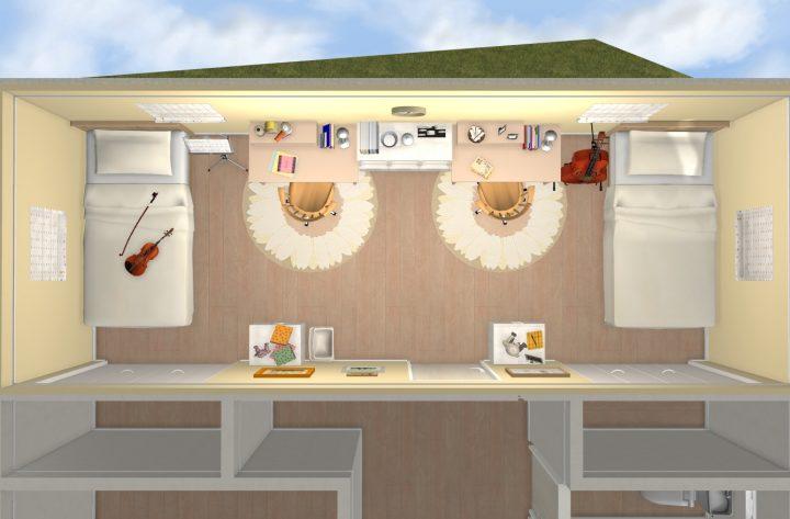 9畳洋室の場合(間仕切り可能な広さ)