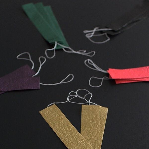 和紙の折り紙で飾り付ける七夕