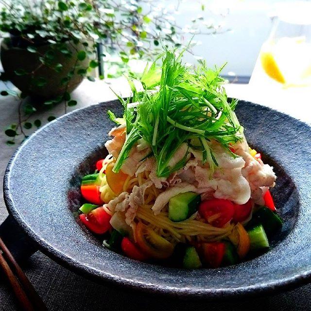 昼食におすすめ!野菜たっぷり冷やし中華