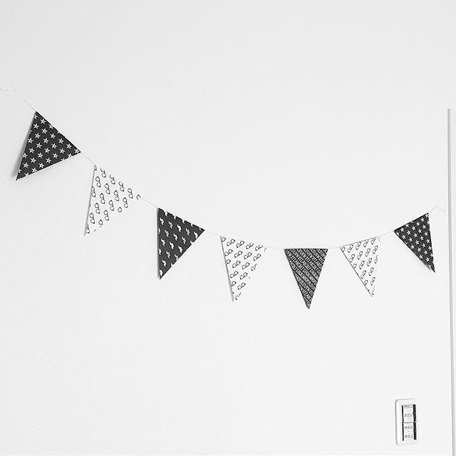 パーティの飾り付けで使える折り紙ガーランド