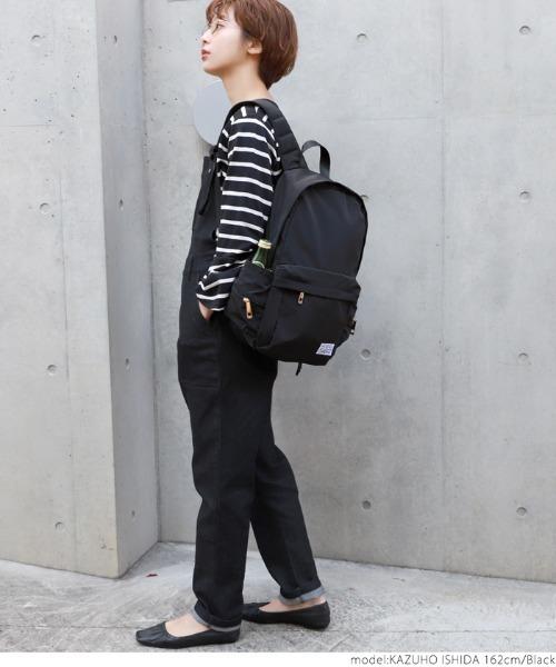 [coca] サイドポケット充実の黒リュックサック
