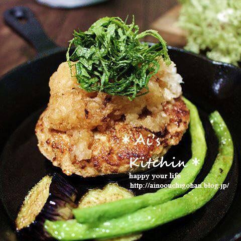 ヘルシーレシピ!和風豆腐ハンバーグ