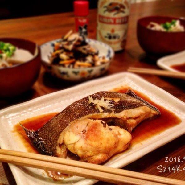 冬に美味しい和食!カレイの煮付け