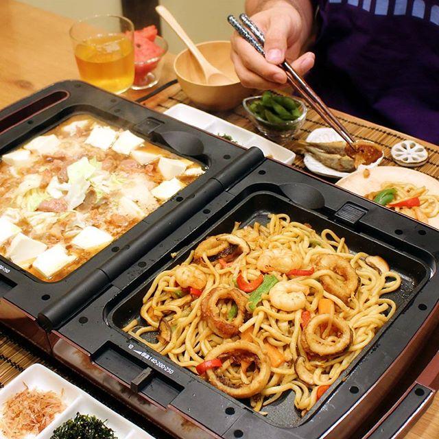 豪華な夕飯レシピ!海鮮焼きうどん