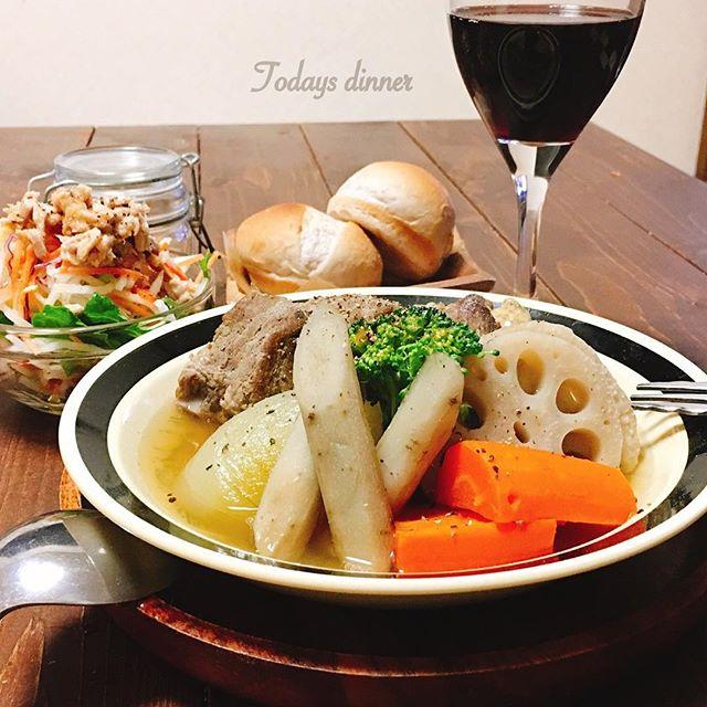 人気のスープ!スペアリブと根菜の和風ポトフ