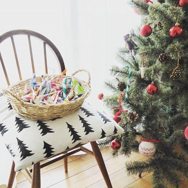 折り紙で手作りするツリーの飾り付け