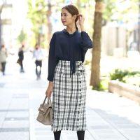 チェックロングスカートの冬コーデ【2021】大人可愛い着こなしをお手本に♪