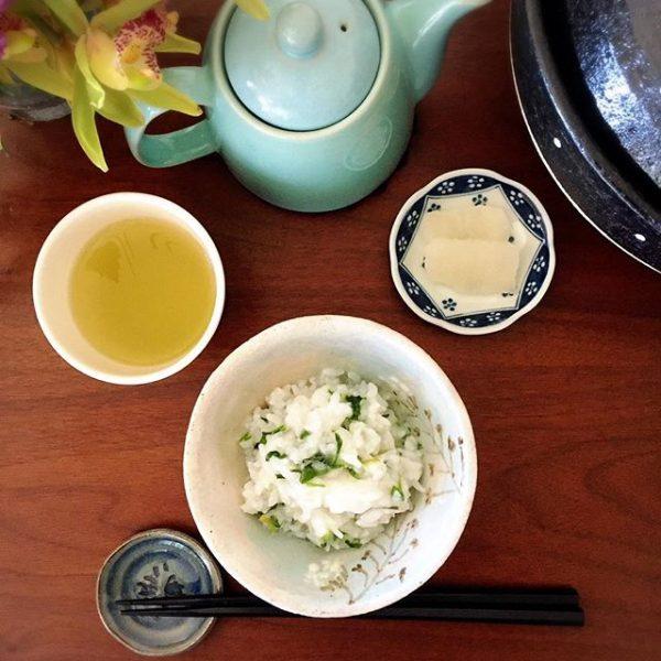 美味しいレシピ!鶏がらスープの七草粥