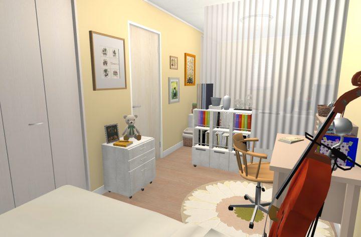 9畳洋室の場合(間仕切り可能な広さ)bhj