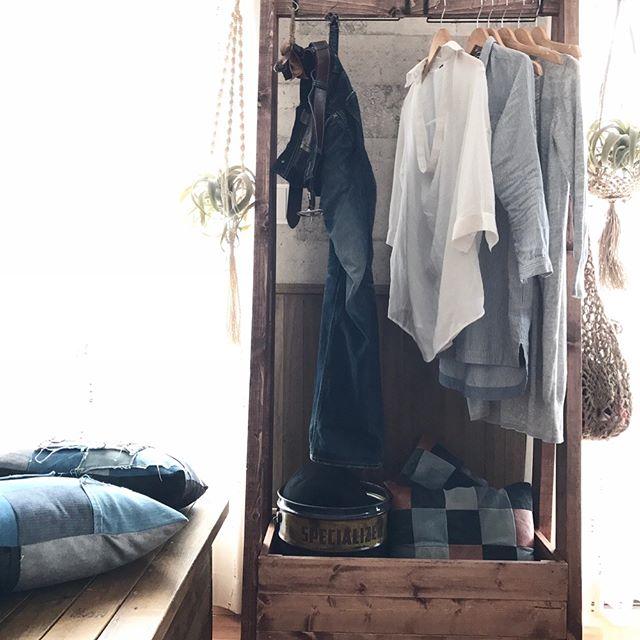 クローゼットなしの洋服収納《ハンガーラック》3